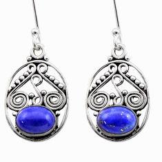 blue lapis lazuli 925 sterling silver dangle earrings d40909