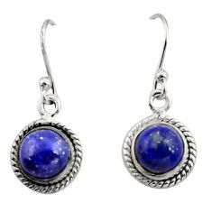 5.25cts natural blue lapis lazuli 925 sterling silver dangle earrings r26713