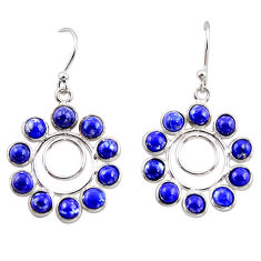 10.08cts natural blue lapis lazuli 925 sterling silver dangle earrings r35569