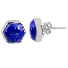 7.96cts natural blue lapis lazuli 925 sterling silver earrings jewelry r80319