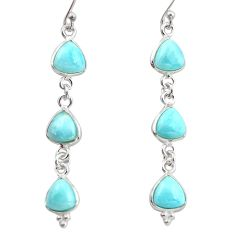12.54cts natural blue larimar 925 sterling silver dangle earrings jewelry r38188