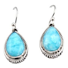 8.61cts natural blue larimar 925 sterling silver dangle earrings jewelry r42971