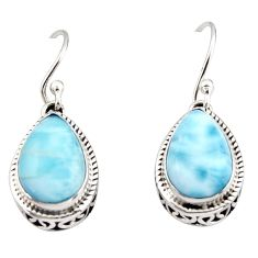 8.46cts natural blue larimar 925 sterling silver dangle earrings jewelry r42977
