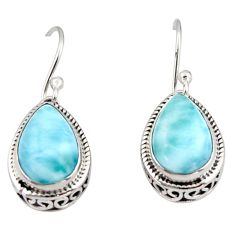 8.54cts natural blue larimar 925 sterling silver dangle earrings jewelry r42978