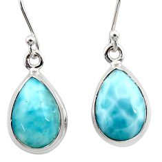 9.18cts natural blue larimar 925 sterling silver dangle earrings jewelry r52111