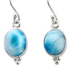 8.51cts natural blue larimar 925 sterling silver dangle earrings jewelry r52123