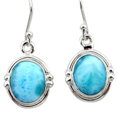 8.32cts natural blue larimar 925 sterling silver dangle earrings jewelry r52125