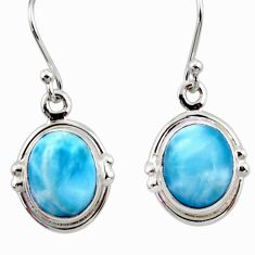 8.73cts natural blue larimar 925 sterling silver dangle earrings jewelry r52133