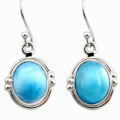 9.16cts natural blue larimar 925 sterling silver dangle earrings jewelry r52137