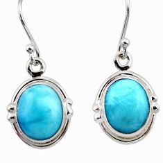 8.75cts natural blue larimar 925 sterling silver dangle earrings jewelry r52139