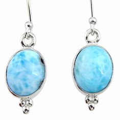 8.12cts natural blue larimar 925 sterling silver dangle earrings jewelry r52167