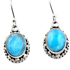 8.25cts natural blue larimar 925 sterling silver dangle earrings jewelry r53061