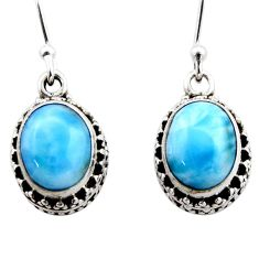 8.25cts natural blue larimar 925 sterling silver dangle earrings jewelry r53065