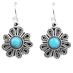 1.47cts natural blue larimar 925 sterling silver dangle earrings jewelry r54015