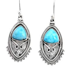 5.79cts natural blue larimar 925 sterling silver dangle earrings jewelry r67234