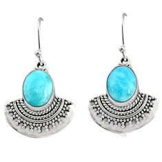 8.54cts natural blue larimar 925 sterling silver dangle earrings jewelry r68431
