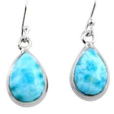 9.61cts natural blue larimar 925 sterling silver earrings jewelry r53752