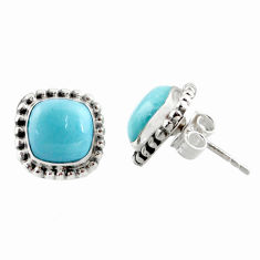 7.24cts natural blue larimar 925 sterling silver stud earrings jewelry r36617