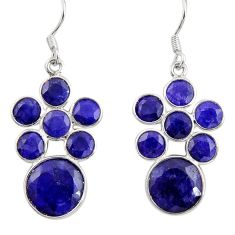 13.15cts natural blue sapphire 925 sterling silver chandelier earrings d39833