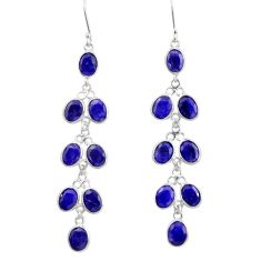 22.48cts natural blue sapphire 925 sterling silver chandelier earrings d39853
