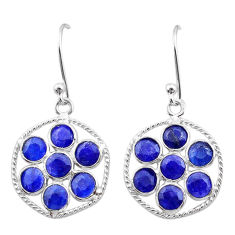 6.60cts natural blue sapphire 925 sterling silver chandelier earrings t38911