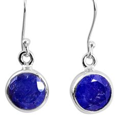 10.15cts natural blue tanzanite 925 sterling silver dangle earrings r60723