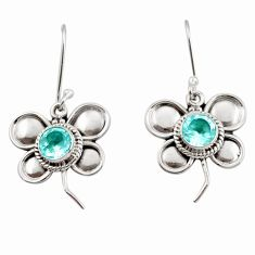 2.23cts natural blue topaz 925 sterling silver butterfly earrings jewelry d45802