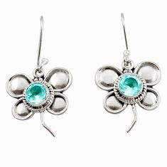 2.50cts natural blue topaz 925 sterling silver butterfly earrings jewelry d45803