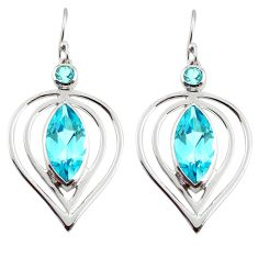 20.33cts natural blue topaz 925 sterling silver dangle earrings jewelry d45763