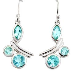 9.10cts natural blue topaz 925 sterling silver dangle earrings jewelry r36772