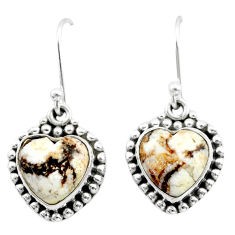 8.94cts natural bronze wild horse magnesite 925 silver dangle earrings t41531