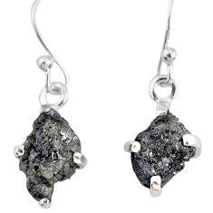 4.24cts natural diamond rough 925 silver handmade dangle earrings r79177