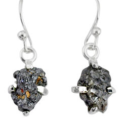 3.67cts natural diamond rough 925 silver handmade dangle earrings r79178