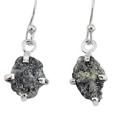 4.28cts natural diamond rough 925 silver handmade dangle earrings r79199