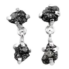 8.42cts natural diamond rough 925 sterling silver dangle earrings jewelry t25715