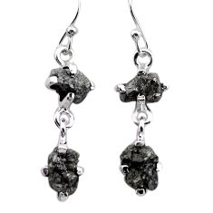 6.99cts natural diamond rough 925 sterling silver dangle earrings jewelry t25782