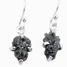 2.66cts natural diamond rough 925 sterling silver earrings jewelry t7827