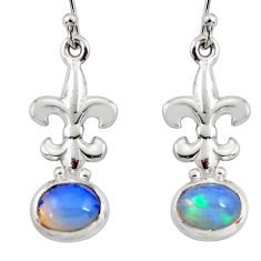 4.21cts natural ethiopian opal 925 silver dangle earrings jewelry r47470