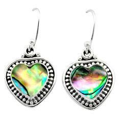 7.78cts natural green abalone paua seashell 925 silver dangle earrings t41508