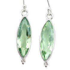 13.18cts natural green amethyst 925 sterling silver dangle earrings t23770
