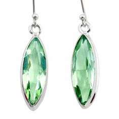 12.14cts natural green amethyst 925 sterling silver dangle earrings t23780