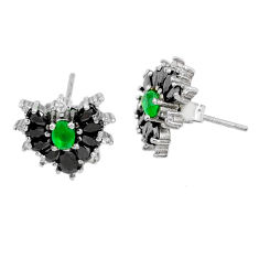 5.22cts natural green chalcedony topaz 925 sterling silver earrings r73099