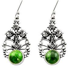 green chrome diopside 925 silver holy cross earrings d40783