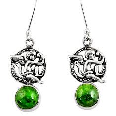 green chrome diopside 925 sterling silver angel earrings d39733