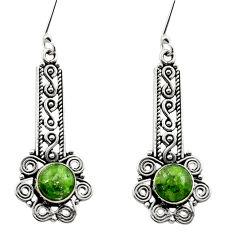 green chrome diopside 925 sterling silver dangle earrings d40795