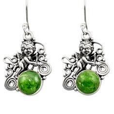 green chrome diopside 925 sterling silver dangle earrings d40815