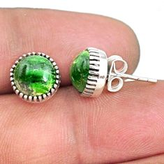5.74cts natural green chrome diopside 925 sterling silver dangle earrings r73040