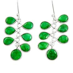 15.34cts natural green emerald 925 sterling silver chandelier earrings d39818