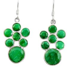 Clearance Sale- 15.34cts natural green emerald 925 sterling silver chandelier earrings d39849
