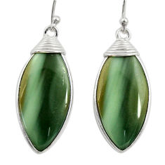 17.46cts natural green imperial jasper 925 silver dangle earrings r28840
